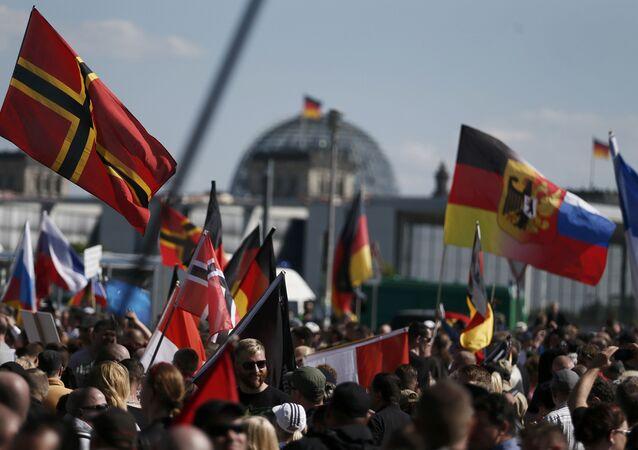 Demonstracja w Berlinie przeciw polityce Angeli Merkel