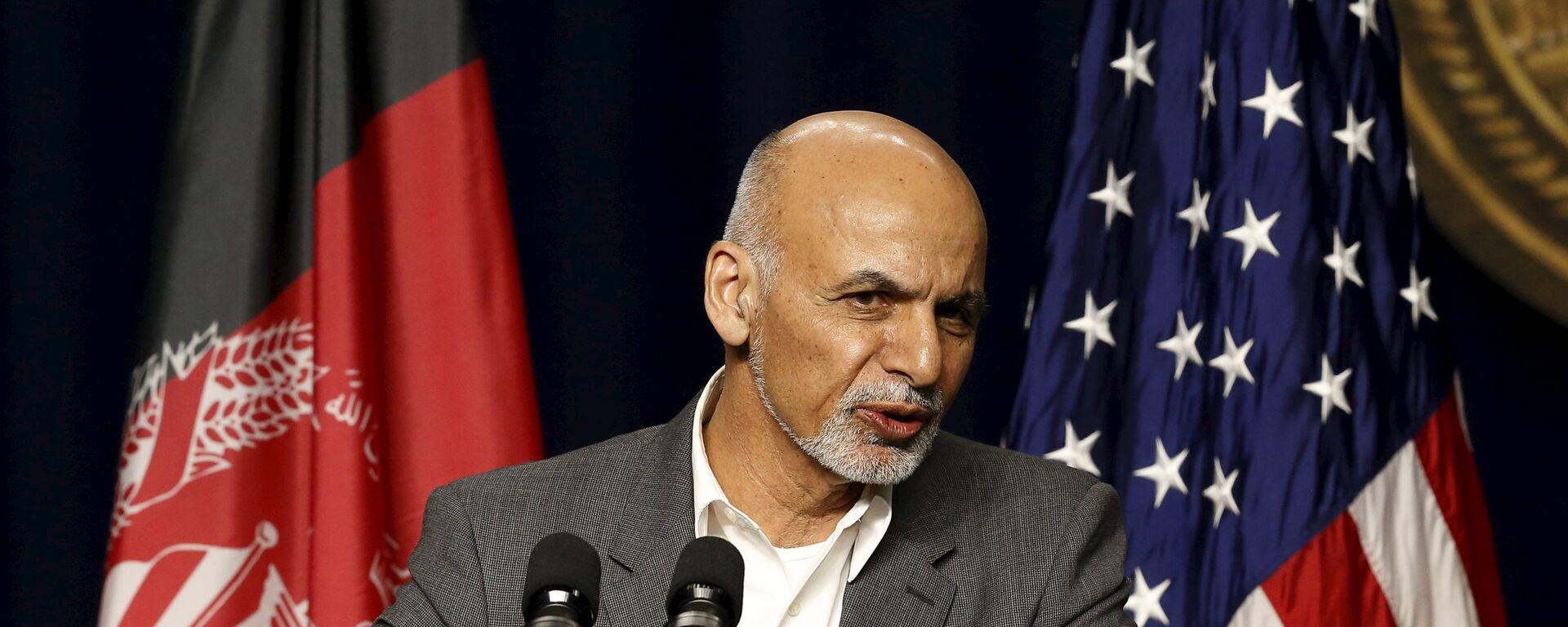 Afghanistan President Ashraf Ghani answers questions at a news conference at Camp David, Maryland March 23, 2015 - Sputnik Polska, 1920, 15.08.2021