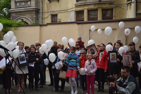 Akcja Nieśmiertelny Pułk w Bukareszcie, 9 maja 2016 - Sputnik Polska