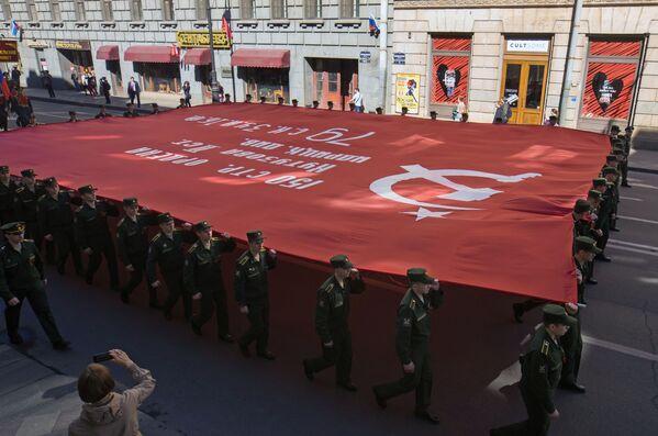 Nieśmiertelny Pułk w Petersburgu, Rosja - Sputnik Polska