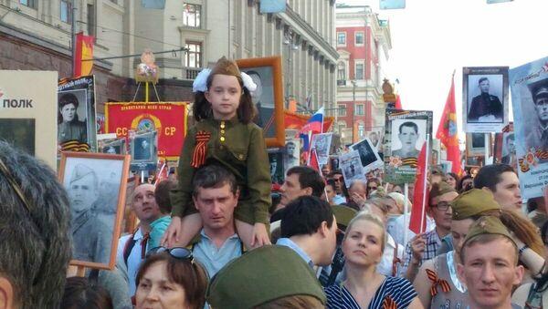 Akcja Nieśmiertelny Pułk w Moskwie, 9 maja 2016 - Sputnik Polska