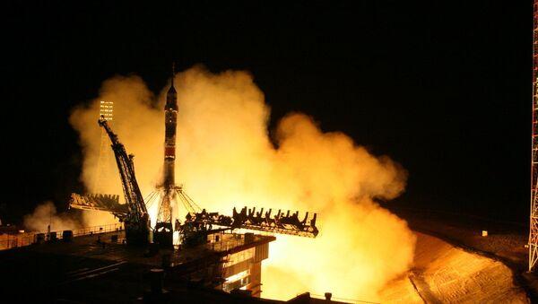 Start rakiety nośnej Sojuz-FG z transportowym załogowym statkiem kosmicznym Sojuz TMA-20M z kosmodromu Bajkonur - Sputnik Polska