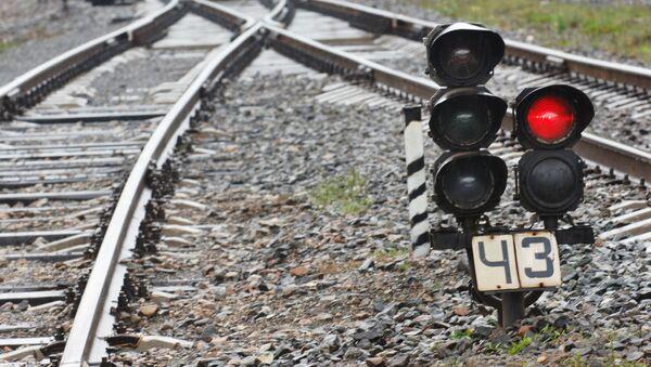Kolejowa sygnalizacja świetlna - Sputnik Polska