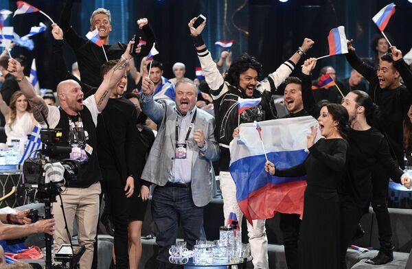 Siergiej Lazarew i delegacja rosyjska na Eurowizji 2016 - Sputnik Polska