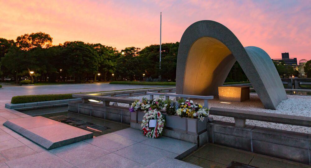 Pomnik pokoju w Hiroszimie w Japonii