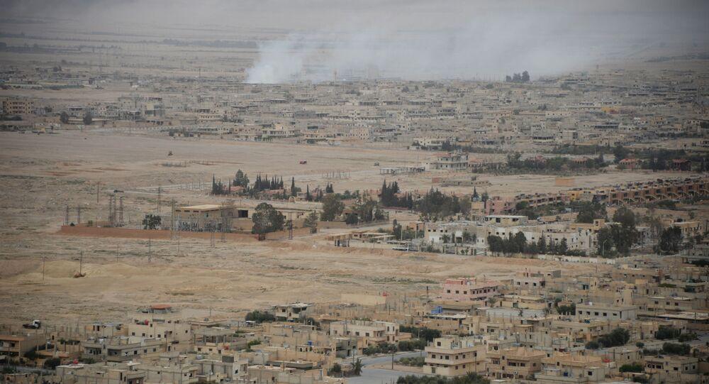 Widok na centralną część nowoczesnej Palmiry