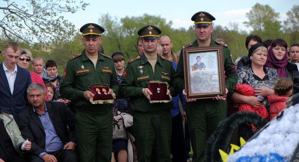 Pogrzeb Bohatera Federacji Rosyjskiej Aleksandra Prokhorenki, który zginął w Syrii