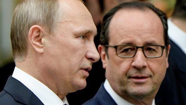 Władimir Putin i Francois Hollande - Sputnik Polska