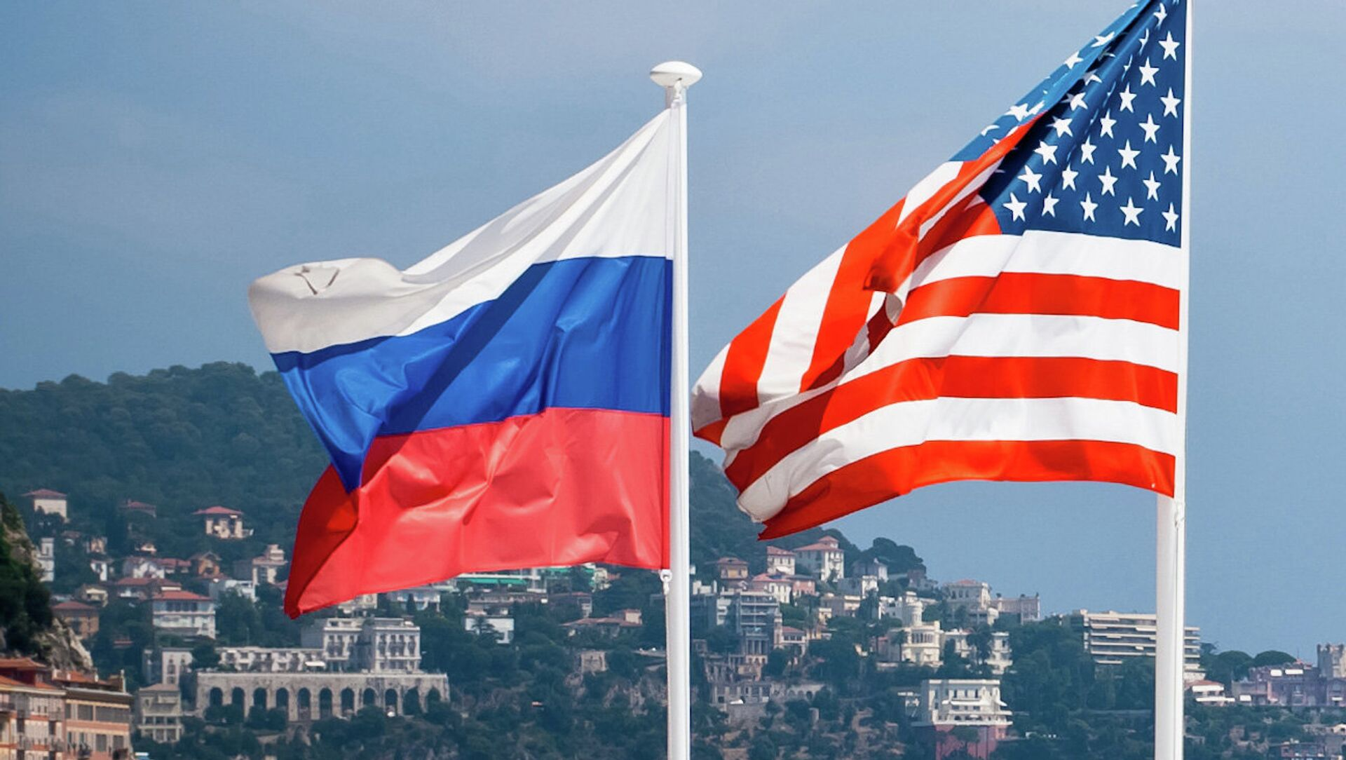 Flagi Rosji i USA - Sputnik Polska, 1920, 03.02.2021