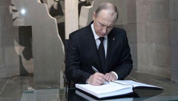 Prezydent Rosji Władimir Putin podczas wizyty w Erewanie - Sputnik Polska