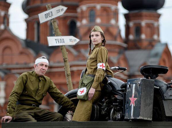 Próba parady z okazji Dnia Zwycięstwa w Tule - Sputnik Polska