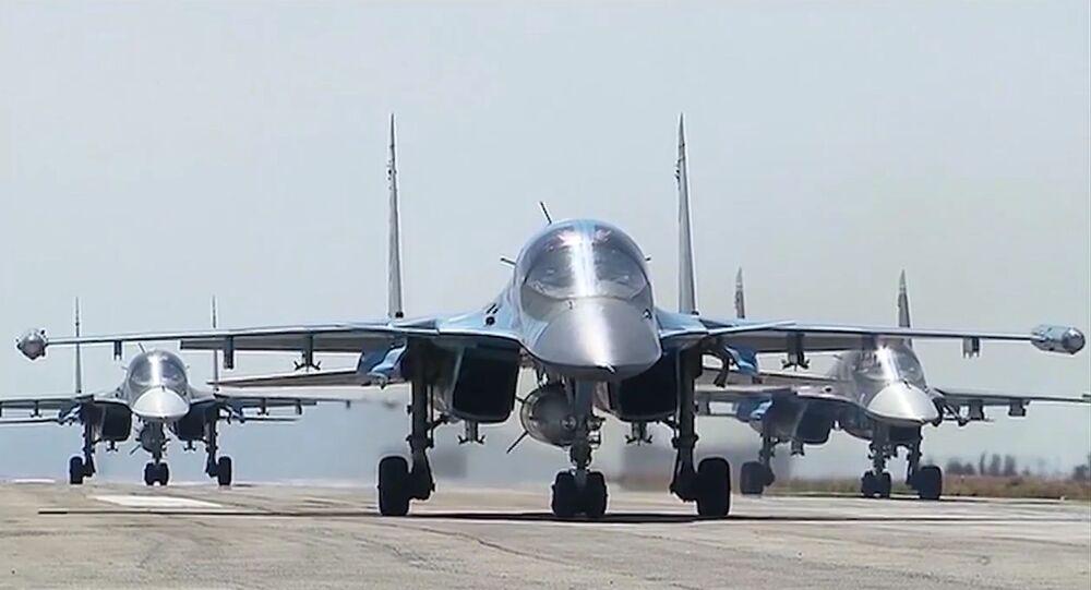Wylot rosyjskich samolotów z bazy lotniczej Hmeimim