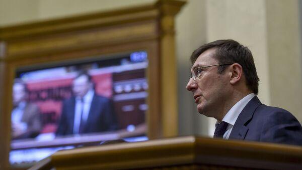 Prokurator generalny Ukrainy Jurij Łucenko - Sputnik Polska