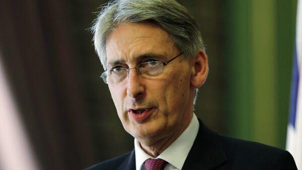 Szef brytyjskiej dyplomacji Philip Hammond - Sputnik Polska