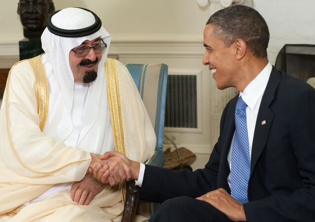 Król Arabii Saudyjskiej Abdullah bin Abdulaziz Al Saud i prezydent USA Barack Obama