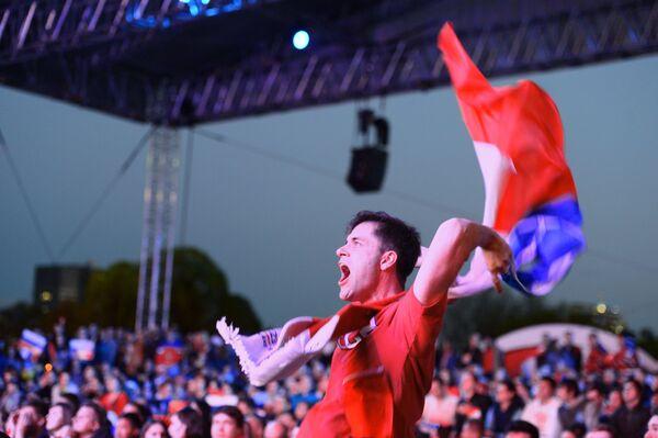 Rosyjscy kibice w czasie Mistrzostw Świata w hokeju-2016 - Sputnik Polska