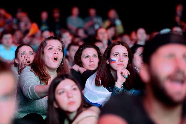 Kibice na Mistrzostwach Świata w hokeju - Sputnik Polska