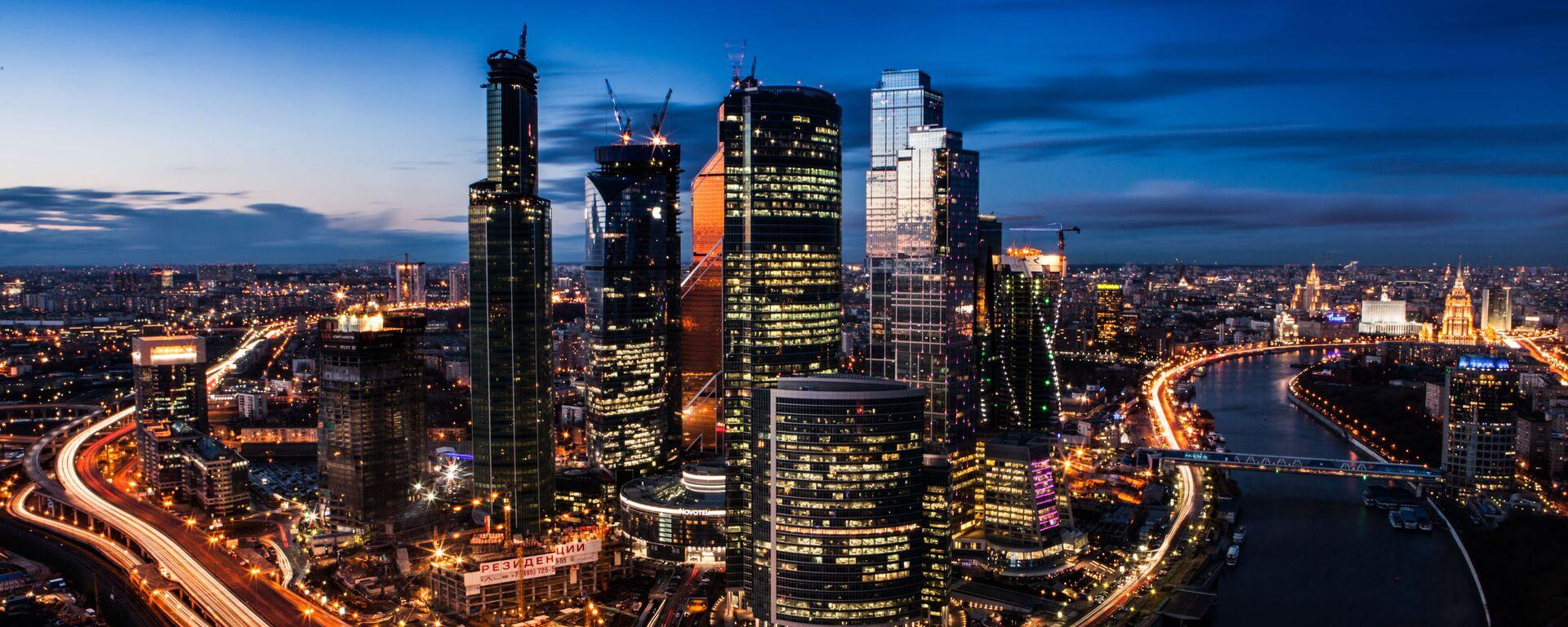 Moskiewskie międzynarodowe centum biznesowe Moscow City - Sputnik Polska, 1920, 05.03.2021