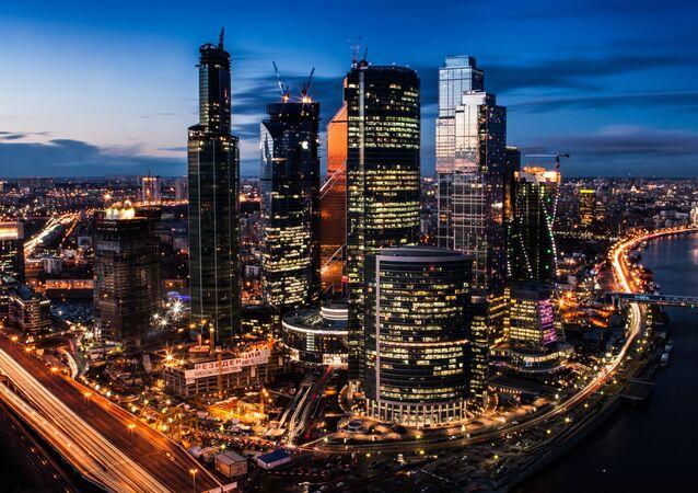 Moskiewskie międzynarodowe centum biznesowe Moscow City