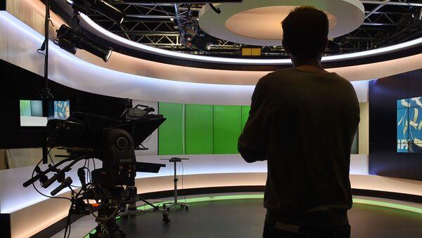 Studio telewizyjne Euronews we Francji - Sputnik Polska