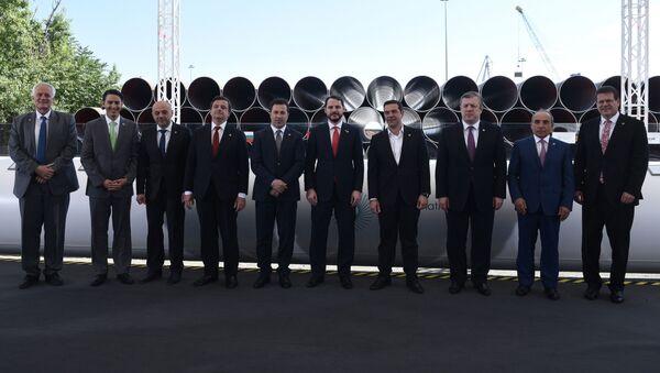 Rozpoczęcie budowy Gazociągu Transadriatyckiego w Grecji - Sputnik Polska