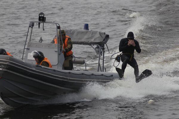 Jednostki specjalne Floty Bałtyckiej podczas obchodów 310. rocznicy Floty Bałtyckiej w Petersburgu - Sputnik Polska