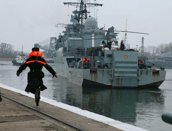 """Rosyjska fregata """"Nieustraszymyj"""" przybywa do Bałtijska - Sputnik Polska"""