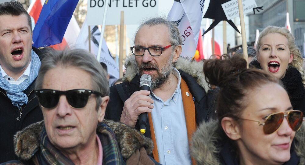 Mateusz Kijowski, lider Komitetu Obrony Demokracji