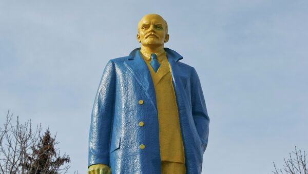 Pomnik Lenina na Ukrainie - Sputnik Polska