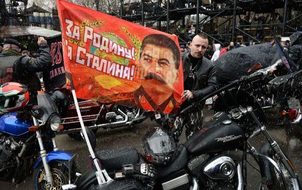Rajd motocyklowy Moskwa-Berlin poświęcony 70. rocznicy zwycięstwa w Wielkiej Wojnie Ojczyźnianej. - Sputnik Polska