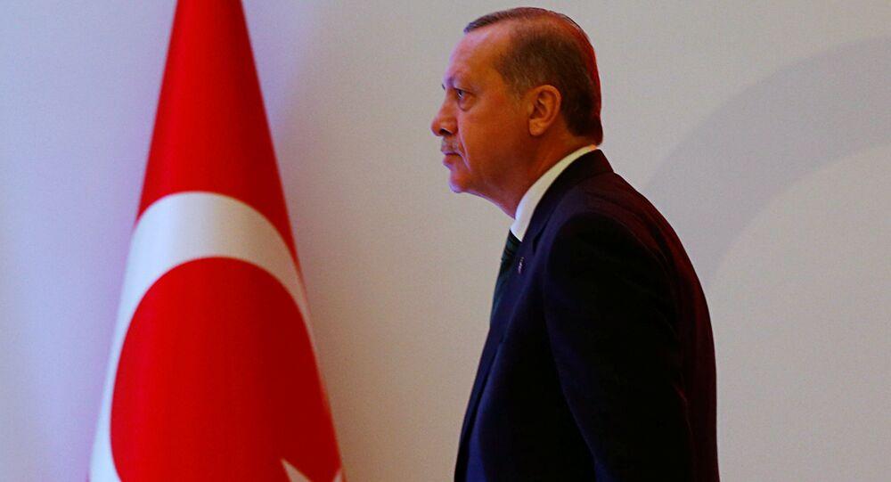 Prezydent Turcji Tayyip Erdogan w Stambule