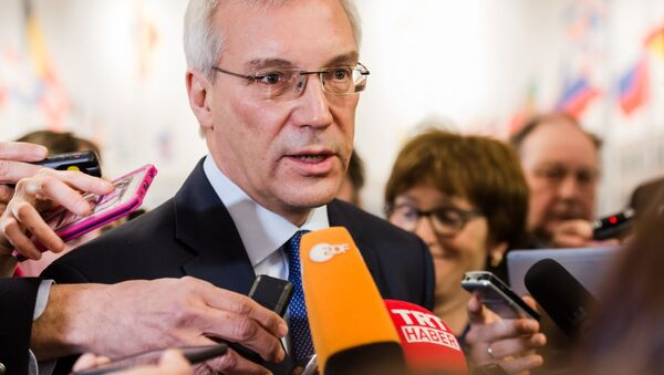 Stały przedstawiciel Rosji przy organizacji Aleksander Gruszko - Sputnik Polska