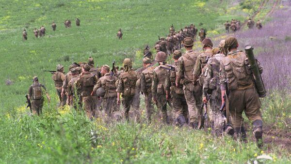 Żołnierze wojsk federalnych Ministerstwa Obrony Rosji w Republice Czeczeńskiej - Sputnik Polska