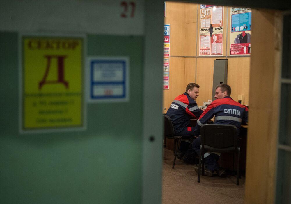 Punkt łączności w bunkrze na Altufijewskiej Szosie w Moskwie.