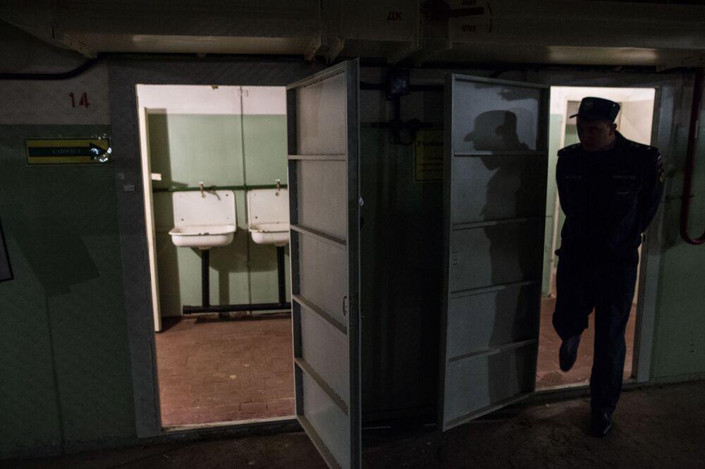 Sanitariat w bunkrze na Altufijewskiej Szosie w Moskwie.