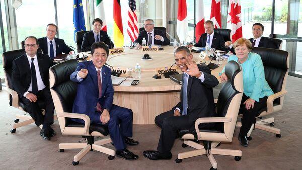 Szefowie państw czlonkowskich G7 na spotkaniu w Japonii - Sputnik Polska