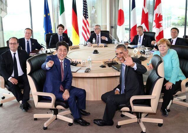 Szefowie państw czlonkowskich G7 na spotkaniu w Japonii