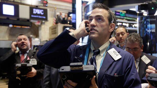 Traderzy na giełdzie finansowej w Nowym Jorku - Sputnik Polska