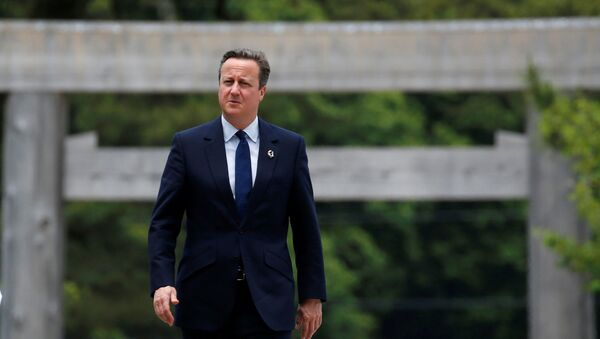 Premier Wielkiej Brytanii David Cameron na szczycie G7 w Japonii - Sputnik Polska
