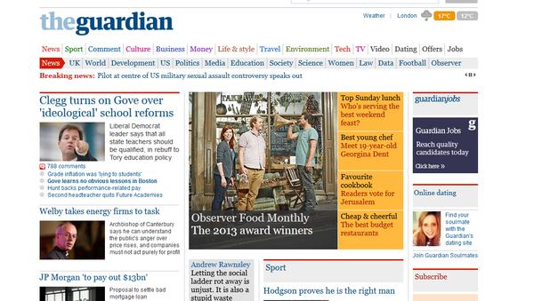 The Guardian - strona internetowa - Sputnik Polska