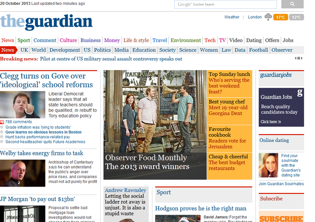 The Guardian - strona internetowa