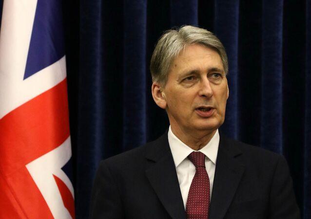 Szef MSZ Wielkiej Brytanii Philip Hammond
