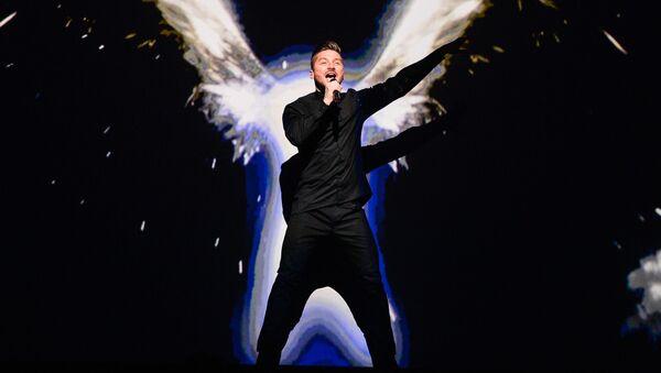 Siergiej Łazariew podczas Eurowizji 2016 w Sztokholmie - Sputnik Polska