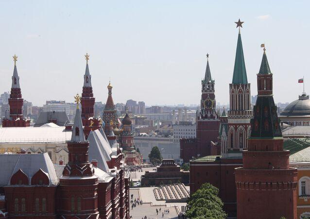 Widok na moskiewski Kreml i Plac Czerwony.