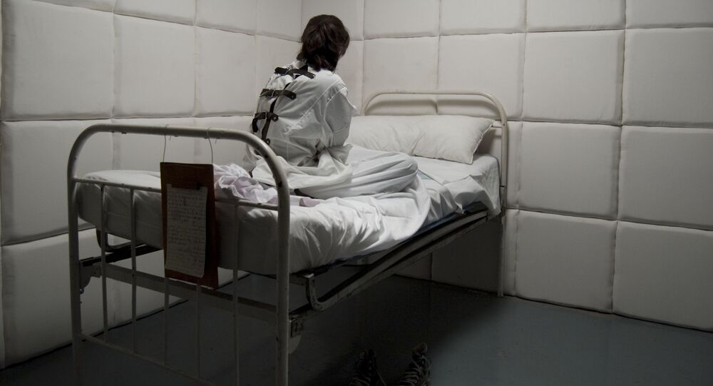 Pacjentka szpitala psychiatrycznego.