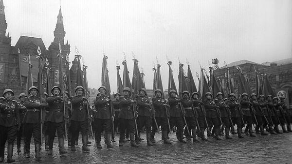 Dzień Zwycięstwa, Plac Czerwony, Moskwa, czerwiec 1945 roku - Sputnik Polska