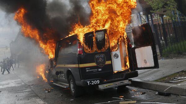 Zamieszki w Baltimore, stan Maryland, 27 kwietnia, 2015 - Sputnik Polska