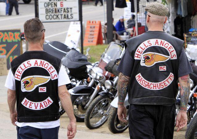 Członkowie grupy Hells Angels na festiwalu Bike Week w New Hampshire (USA).