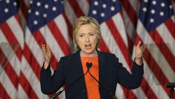 Kandydatka na urząd prezydenta USA Hillary Clinton w San Diego - Sputnik Polska