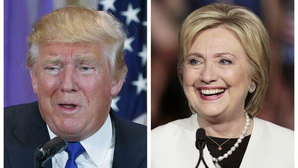 Donald Trump i Hillary Clinton - Sputnik Polska